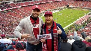 JB attended 2019 CFP National Championship - Alabama Crimson Tide vs. Clemson Tigers on Jan 7th 2019 via VetTix