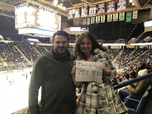 Maryann attended Hartford Wolf Pack vs. Syracuse Crunch - AHL on Feb 8th 2019 via VetTix