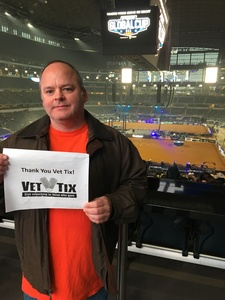 Darrell attended Winstar World Casino and Resort PBR Global Cup USA - Saturday Only on Feb 9th 2019 via VetTix