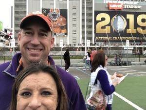 Chris attended 2019 CFP National Championship - Alabama Crimson Tide vs. Clemson Tigers on Jan 7th 2019 via VetTix