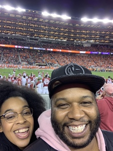 Raphael attended 2019 CFP National Championship - Alabama Crimson Tide vs. Clemson Tigers on Jan 7th 2019 via VetTix