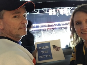Patrick attended Jacksonville Icemen vs. Florida Everblades - ECHL - Military Appreciation Night on Jan 26th 2019 via VetTix