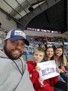 Adam attended Ft Wayne Komets vs Kalamzoo Wings - ECHL on Jan 16th 2019 via VetTix
