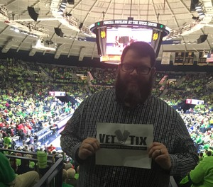 Ryan attended Notre Dame Fighting Irish vs. University of Louisville Cardinals - NCAA Women's Basketball on Jan 10th 2019 via VetTix