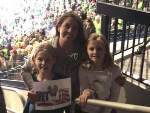 Christina attended Notre Dame Fighting Irish vs. University of Louisville Cardinals - NCAA Women's Basketball on Jan 10th 2019 via VetTix