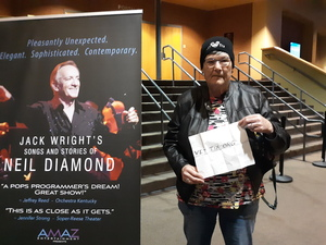Pat attended Jack Wright - the Music of Neil Diamond on Jan 18th 2019 via VetTix