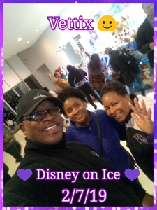 Crystal attended Disney on Ice Presents: Dare to Dream on Feb 7th 2019 via VetTix