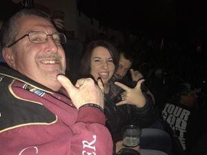 Ellis attended Disturbed: Evolution World Tour - Heavy Metal on Jan 26th 2019 via VetTix