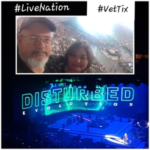 Vincent and Nancy attended Disturbed: Evolution World Tour - Heavy Metal on Jan 26th 2019 via VetTix