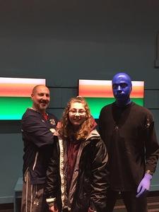 Atom attended Blue Man Group Chicago on Feb 7th 2019 via VetTix