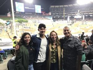 Jorge attended Monster Energy Superscross on Jan 19th 2019 via VetTix
