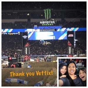 Jeffrey attended Monster Energy Superscross on Jan 19th 2019 via VetTix