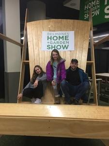 Bob attended Des Moines Home + Garden Show on Feb 7th 2019 via VetTix