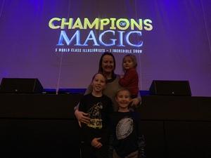 Karoline attended Champions of Magic - Saturday Evening Performance on Jan 26th 2019 via VetTix