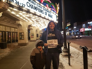 Brian attended Champions of Magic - Saturday Evening Performance on Jan 26th 2019 via VetTix