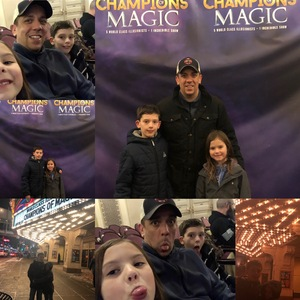 Erich attended Champions of Magic - Saturday Evening Performance on Jan 26th 2019 via VetTix