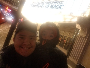 Nahbahe attended Champions of Magic - Saturday Evening Performance on Jan 26th 2019 via VetTix
