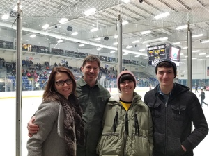 Anthony attended Chicago Steel vs. Muskegon - Military Appreciation / Hometown Heroes Night on Feb 15th 2019 via VetTix