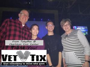 Mark attended TobyMac Hits Deep Tour on Feb 14th 2019 via VetTix