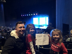 Robert attended Disney's D'cappella on Jan 30th 2019 via VetTix