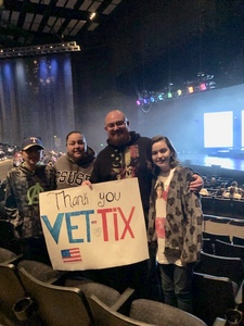 James attended Disney's D'cappella on Jan 30th 2019 via VetTix