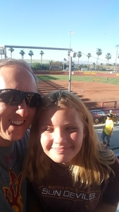 Mark T. attended Honor Row ASU Sun Devils vs. Csun- NCAA Softball Kajikawa Classic Day 3 on Feb 10th 2019 via VetTix