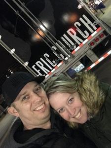 Ryan attended Eric Church Tickets- St. Louis on Jan 25th 2019 via VetTix