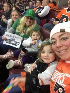 Marlene attended Philadelphia Flyers vs. Winnipeg Jets - NHL on Jan 28th 2019 via VetTix