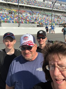 James attended 61st Annual Monster Energy NASCAR Cup Series Daytona 500 With Fanzone Access! - * See Notes on Feb 17th 2019 via VetTix