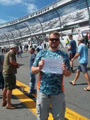 kira attended 61st Annual Monster Energy NASCAR Cup Series Daytona 500 With Fanzone Access! - * See Notes on Feb 17th 2019 via VetTix