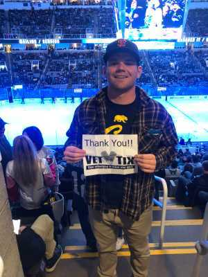 Christopher attended San Jose Sharks vs. Colorado Avalanche - NHL on Mar 1st 2019 via VetTix
