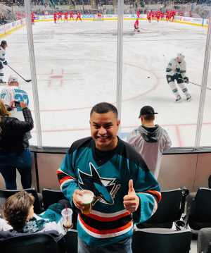 FRANCISCO attended San Jose Sharks vs. Colorado Avalanche - NHL on Mar 1st 2019 via VetTix