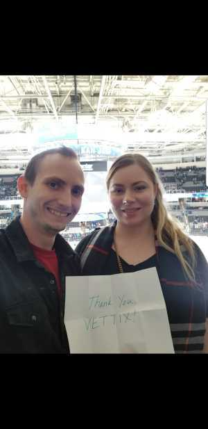 Cameron attended San Jose Sharks vs. Colorado Avalanche - NHL on Mar 1st 2019 via VetTix