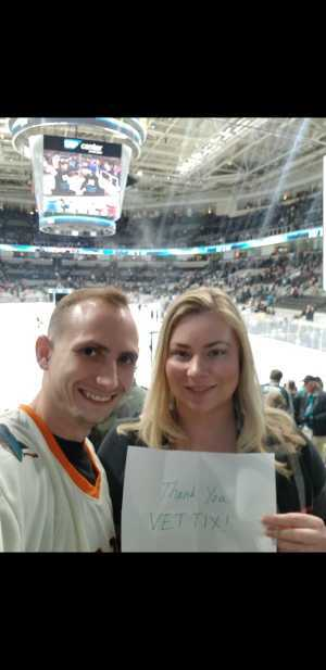 Cameron attended San Jose Sharks vs. Montreal Canadiens - NHL on Mar 7th 2019 via VetTix