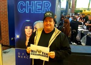 Charles attended Cher: Here We Go Again Tour - Pop on Jan 29th 2019 via VetTix