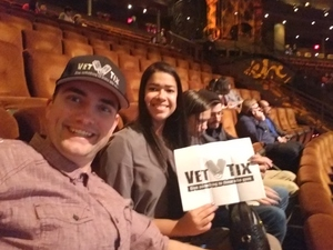 Jared attended Le Reve the Dream on Jan 27th 2019 via VetTix