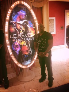 Thurston attended Le Reve the Dream on Jan 27th 2019 via VetTix