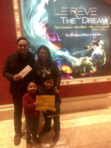 Marc attended Le Reve the Dream on Jan 27th 2019 via VetTix