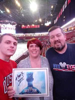 Stacey attended Ohio State Buckeyes vs. Michigan State University - NCAA Hockey on Mar 1st 2019 via VetTix