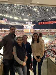 James attended Ohio State Buckeyes vs. Michigan State University - NCAA Hockey on Mar 1st 2019 via VetTix