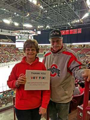 Francis attended Ohio State Buckeyes vs. Michigan State University - NCAA Hockey on Mar 1st 2019 via VetTix