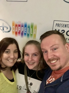 Dustin attended Disney's Dcappella - Other on Feb 5th 2019 via VetTix