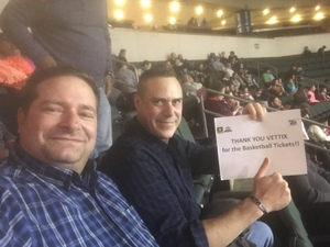 Kurt attended Oklahoma City Blue vs. Austin Spurs - NBA G - League Basketball on Feb 8th 2019 via VetTix