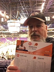 STEVEN attended Phoenix Suns vs. Atlanta Hawks - NBA on Feb 2nd 2019 via VetTix