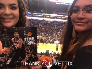 vincenzo attended Phoenix Suns vs. Atlanta Hawks - NBA on Feb 2nd 2019 via VetTix