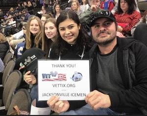 Estevan attended Jacksonville Icemen vs. Norfolk Admirals - ECHL on Feb 1st 2019 via VetTix