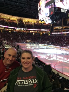 Jennifer attended Arizona Coyotes vs. Columbus Blue Jackets - NHL on Feb 7th 2019 via VetTix