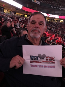 Sidney attended Arizona Coyotes vs. Columbus Blue Jackets - NHL on Feb 7th 2019 via VetTix