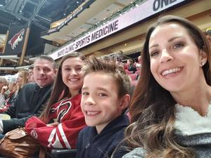 Chad Wilkes attended Arizona Coyotes vs. Columbus Blue Jackets - NHL on Feb 7th 2019 via VetTix