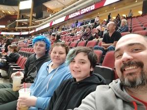 William attended Arizona Coyotes vs. Columbus Blue Jackets - NHL on Feb 7th 2019 via VetTix